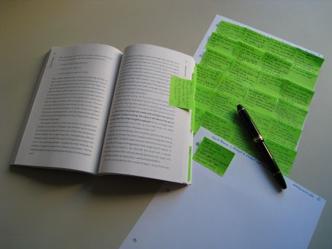 Transfer post-its to a sheet of paper