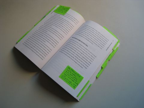 Book with post-its
