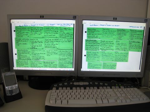 The compressed book in my computer screen